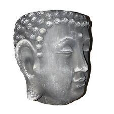 New ListingB 00006000 uddha Head Flower Pot Gray Concrete Plants Pots Home Decor Garden Design Zenda