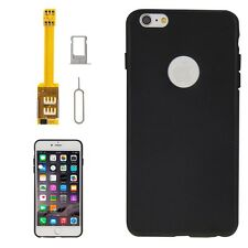 4 in 1 Dual SIM card adapter Flex W Soft TPU Case Cover For iPhone 6 Plus