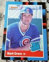 MARK GRACE 1988 Donruss RATED Rookie Card RC 2001 World Series Champs Cubs DBack