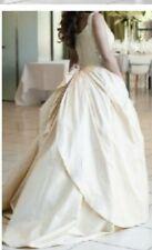 Connie Simonetti Champagne Silk Wedding Dress Gown Sz 8