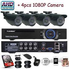 Floureon 8Ch Hybrid 1080N Ahd Dvr w/ 4x Outdoor 1080p 2Mp Cctv Cameras, 1Tb Hdd
