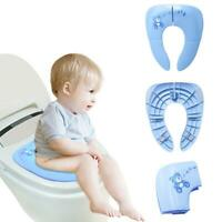 Baby Kids Travel Folding Potty Seat Toddler Portable Toilet Training Pad Cushion