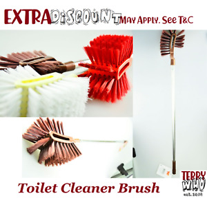 Long Handle Bathroom Toilet Brush Bowl Scrub Double Side Cleaning