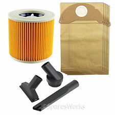 Mini Tool Cleaning Nozzle Bags Filter Kit for Karcher Wet & Dry Vacuum MV2 A2054