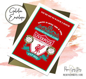Liverpool Scratch & Reveal Surprise Card Football gift Card tickets card