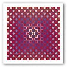 ABSTRACT ART PRINT Alom by Victor Vasarely