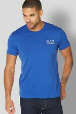 Emporio Armani ea7 Small Logo Bedruckt T Shirt blau Herren 2xl Brandneu mit Etiketten