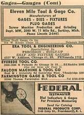 1946 Eleven Mile Tool & Gage Co Berkley Michigan Ad