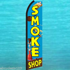 SMOKE SHOP Blue SWOOPER FLAG Tall Flutter Feather Advertising Sign Banner 3042