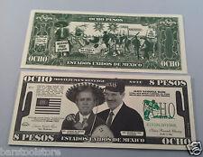 8 Pesos Ocho DOLLARS George W. Bush FAKE DOLLAR BILLS Lot of 20-
