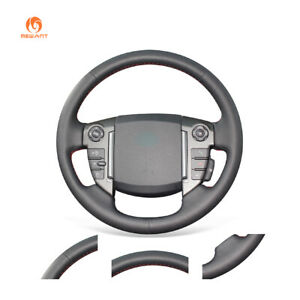 DIY Black PU Leather Steering Wheel Cover for Land Rover Freelander 2 2013-2015