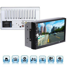 "2 Din 7"" Touch Screen FM Bluetooth Radio Audio Stereo Video Player&HD Camera TOP"