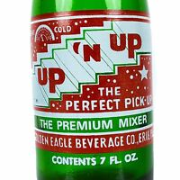 Up N Up Soda Bottle 7oz ACL Green Up and Up Mixer 7 Ounce Lemon Lime Erie PA