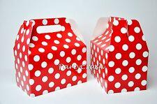 12PCS Red Polka Dot Minnie Mickey Birthday Treat Goody Boxes Party Supply