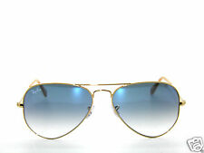 RAY BAN SunglaSSeS 3025 Rayban 001/3F  Gold/BLUE Gradient LARGE AVIATORS 62