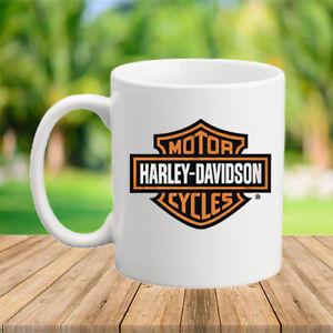 Harley-Davidson Men's Orange Bar & Shield Coffee Mugs