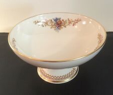 Lenox Compote Bowl Queen's Garden Pattern Mint In Original Box Never Used Usa