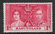 BASUTOLAND - MINT KGV1 COMMEMORATIVE STAMP 1937 - CORONATION KGV1