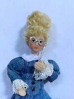 Dollhouse Miniature Polished Pewter Lorgnettes Opera Eye Glasses