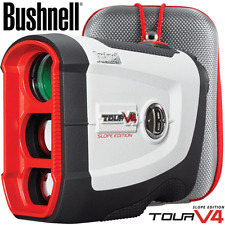 BUSHNELL TOUR V4 SLOPE GOLF LASER RANGEFINDER +3 X FREE BATTERIES & FREE STORAGE