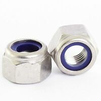 M4 M5 M6 M8 M10 M12 STAINLESS NYLOC NYLOCK LOCK NUTS TYPE P THICK