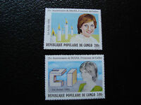 CONGO brazzaville - timbre yvert et tellier n° 670 671 n** (A9) stamp