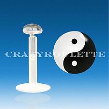 925 Ying Yang Bioflex Piercin Labbra Labret SPINA Ø 3 mm