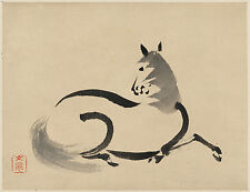 Japanese Print Reproductions: Horse (Uma): Fine Art Print