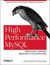 High Performance MySql by Jeremy D. Zawodny, Derek Balling, Advanced