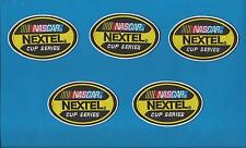 5 Lot NASCAR Nextel Cup Series Iron On Hat Jacket Racing Gear Patches Crests A