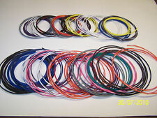 10 FEET GXL stripe automotive wire 18 gauge 157 COLOR CHOICES  PICK ONE