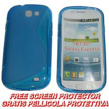 Pellicola + Custodia cover case WAVE BLU per Samsung Galaxy Express I8730 (B8)