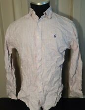 Polo Ralph Lauren Mens Button Down Long Sleeve Pink Shirt Size L Classic Fit