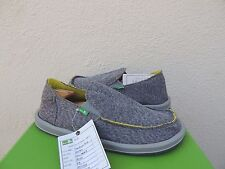 SANUK GREY VAGABOND MESH SIDEWALK SURFER SHOES, MEN US 9/ EUR 42 ~NEW