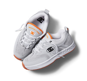DC Lukoda Size 11.5 White / Grey / Orange Herritage Collection