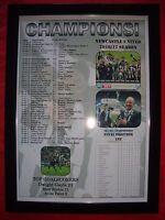 Newcastle United Championship champions 2017 - framed print