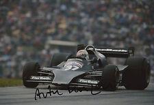 Arturo Merzario Firmato a Mano 12x8 photo formula 1 5.