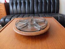 DIGSMED Danish Modern Teak Holz mit 6 Glas Teller 60er lazy susan 60s Denmark