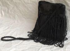 Vintage Black Beaded Purse Walborg Made In Hong Kong