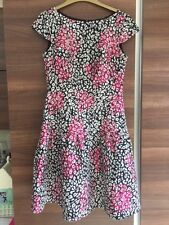 French Connection Black and cream with metallic pink dress.  Size 10. New