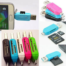 Mini USB2.0 SD+Micro SD/T-Flash Memory Card Reader Adapter For Smartphone HTC PC