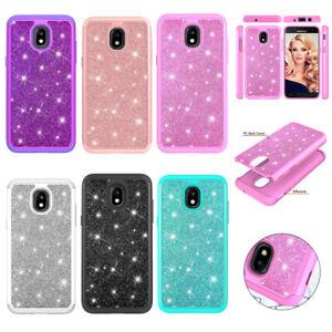 Samsung Galaxy J3 2017,J7 2017,J3 2018,J7 2018 Glitter Bling Hybrid Case Cover