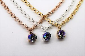 Necklace and Leverback Earring Set with 8mm Paradise Shine Swarovski Crystals