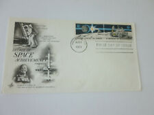 Space Achievement Combo Stamp Fdc Sc#1434-35 Art Craft Cachet Cover 1971 Issue
