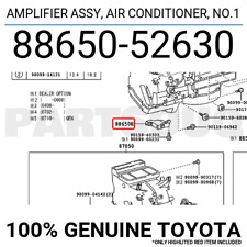 8865052630 Genuine Toyota AMPLIFIER ASSY, AIR CONDITIONER, NO.1 88650-52630