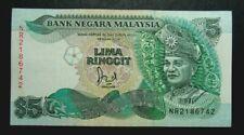 Rm 5 Malaysia Jaffar note cross-pole last Prefix NR (EF+) # 82