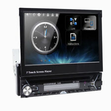"""7"""" Single 1DIN Car CD VCD DVD Player GPS Navigation Bluetooth Touch Stereo Radio"""