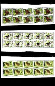 En Gros Lot Butterflies. Tonga-Niuafo'Ou 9 De 12 Valeurs Imperfection X 6
