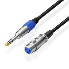 2m Mikrofonkabel XLR female auf 6,3 mm 1/4 Zoll Stecker Klinke Mikrokabel