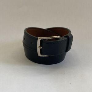 Hermès Mens Womens Unisex Leather Wrap Bracelet Cuff In Black / Silver